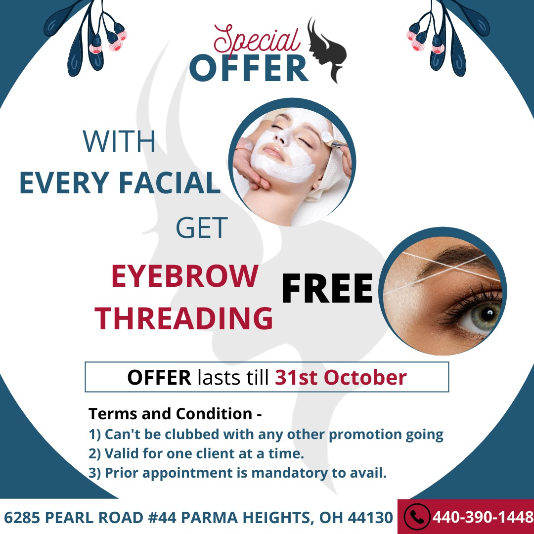 eyebrow threading deal